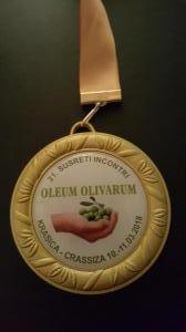 Zlatna medalja krasica 2018 Oleum olivarum